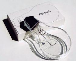 Flat light bulb_innovative